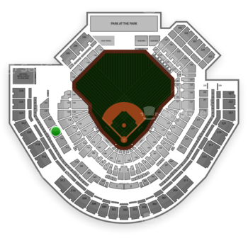 San Diego Padres at Petco Park Section 216 View