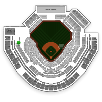 San Diego Padres at Petco Park Section 222 View