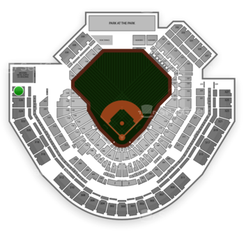 San Diego Padres at Petco Park Section 328 View