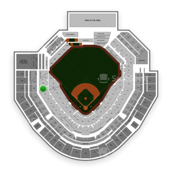 San Diego Padres at Petco Park Section 120 View