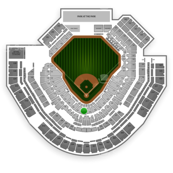 San Diego Padres at Petco Park Section 102 View