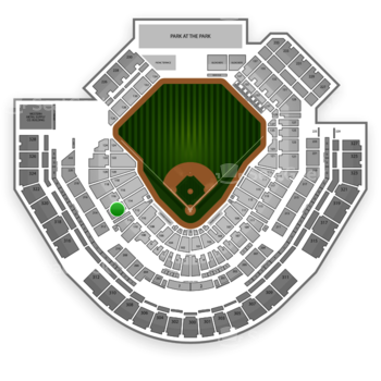 San Diego Padres at Petco Park Section 114 View