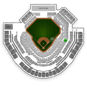 San Diego Padres at Petco Park Section 119 View