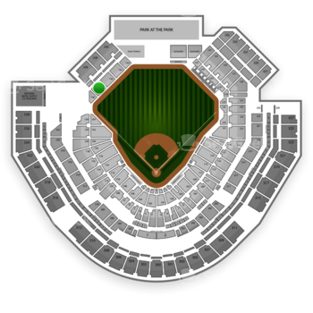 San Diego Padres at Petco Park Section 128 View