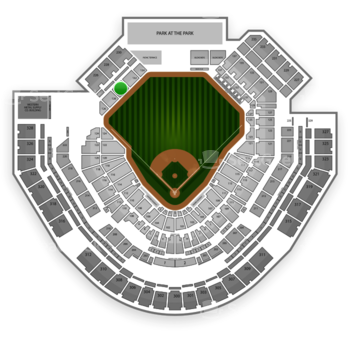 San Diego Padres at Petco Park Section 130 View