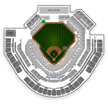 San Diego Padres at Petco Park Section 134 View
