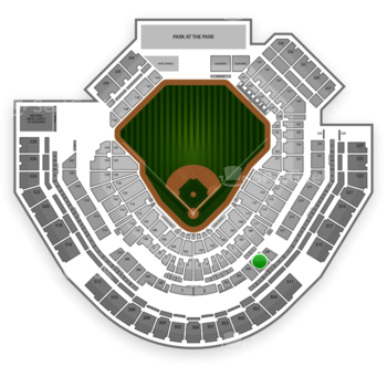 San Diego Padres at Petco Park Section 207 View
