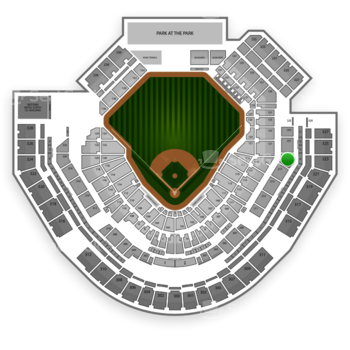 San Diego Padres at Petco Park Section 219 View