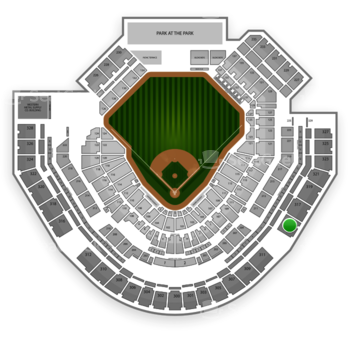 San Diego Padres at Petco Park Section 315 View