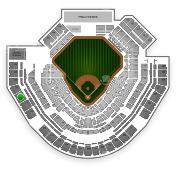 San Diego Padres at Petco Park Section 320 View