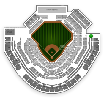 San Diego Padres at Petco Park Section 329 View