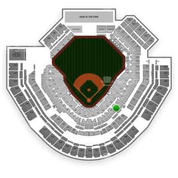 San Diego Padres at Petco Park Section 109 View