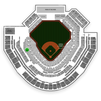 San Diego Padres at Petco Park Section 118 View