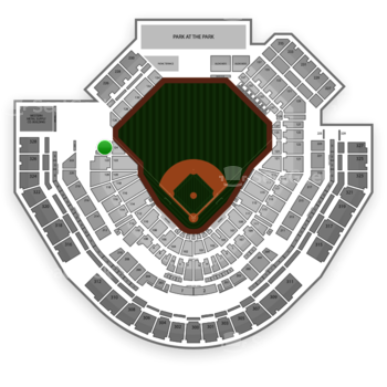 San Diego Padres at Petco Park Section 124 View