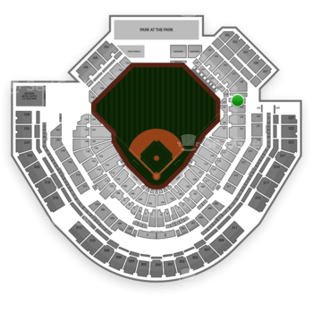 San Diego Padres at Petco Park Section 127 View