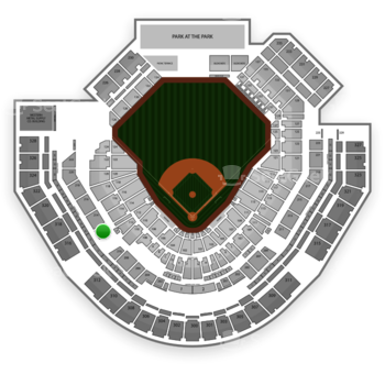 San Diego Padres at Petco Park Section 212 View