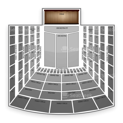 Metropolitan Opera seating chart Don Carlo