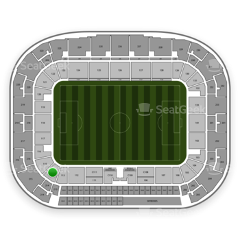 New York Red Bulls at Red Bull Arena Section 114 View