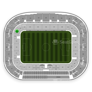 New York Red Bulls at Red Bull Arena Section 121 View