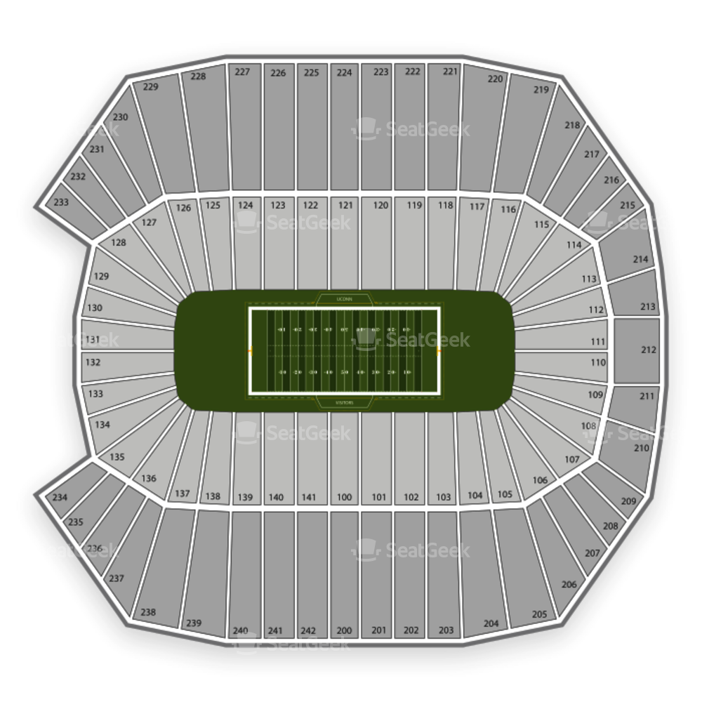 Pratt & Whitney Stadium at Rentschler Field Seating Chart Concert