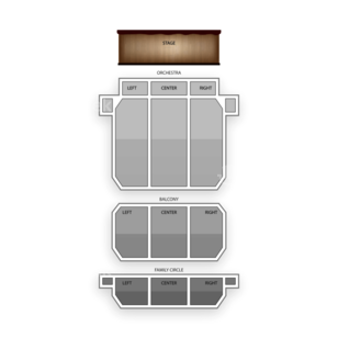 Merriam Theater Seating Chart Comedy