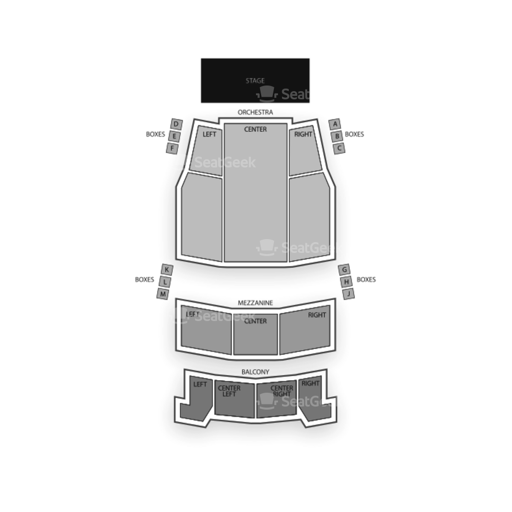 Elgin Theatre Seating Chart Concert