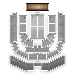 Township Auditorium Seating Chart Comedy