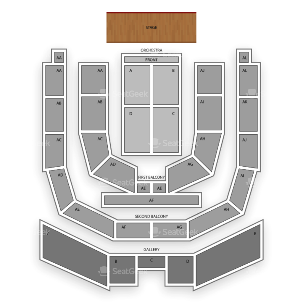 Township auditorium seating chart family map seatgeek