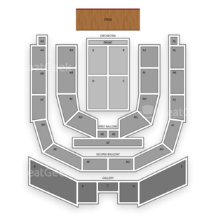 Township Auditorium Seating Chart Family