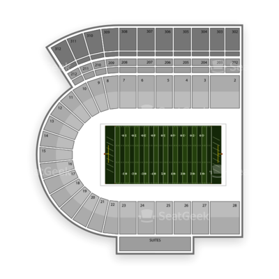 Byrd Stadium seating chart Maryland Terrapins Football