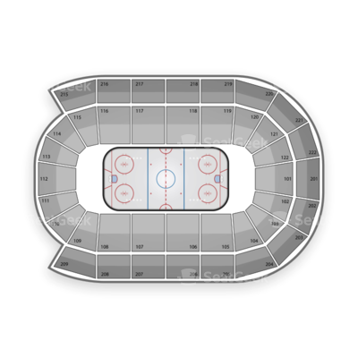 Huntington Center seating chart Toledo Walleye