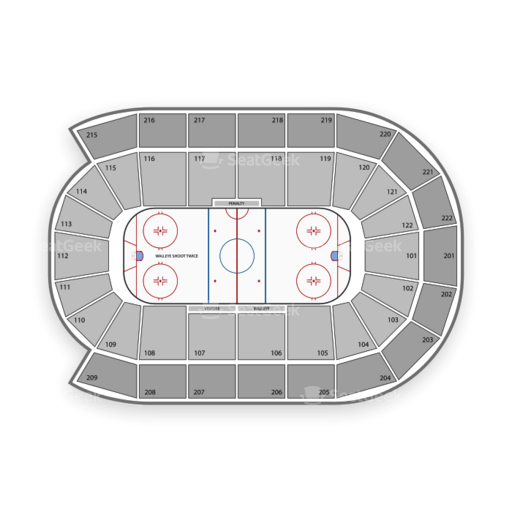 Toledo walleye seating chart map seatgeek
