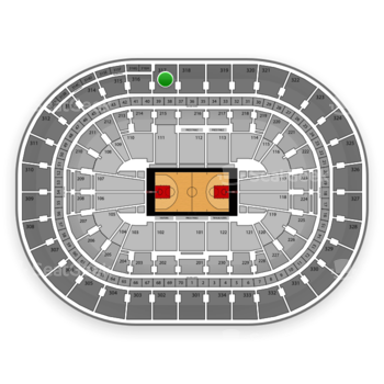 Portland Trail Blazers at Moda Center at the Rose Quarter Section 317 View