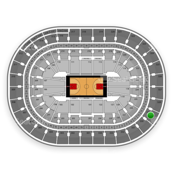 Portland Trail Blazers at Moda Center at the Rose Quarter Section 329 View