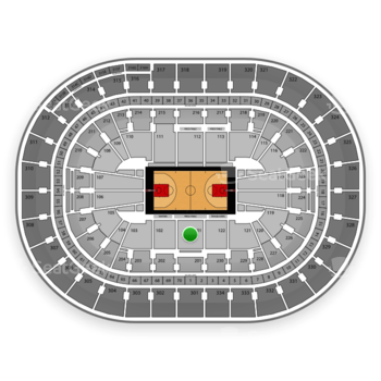 Portland Trail Blazers at Moda Center Section 101 View