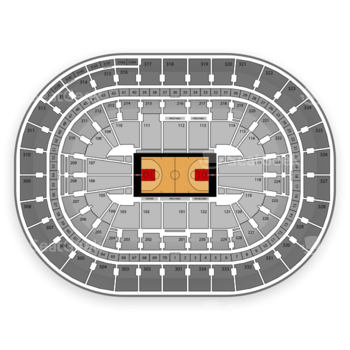Portland Trail Blazers at Moda Center 105 F View
