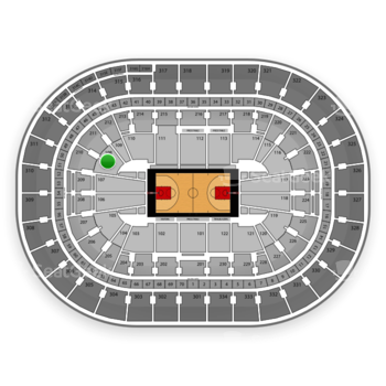 Portland Trail Blazers at Moda Center Section 108 View
