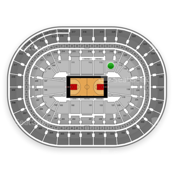 Portland Trail Blazers at Moda Center Section 114 View