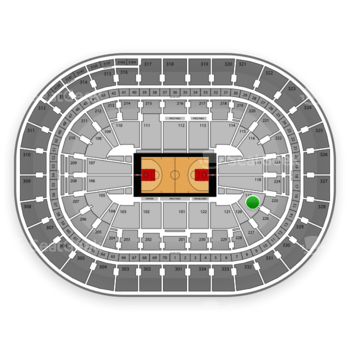 Portland Trail Blazers at Moda Center Section 119 View