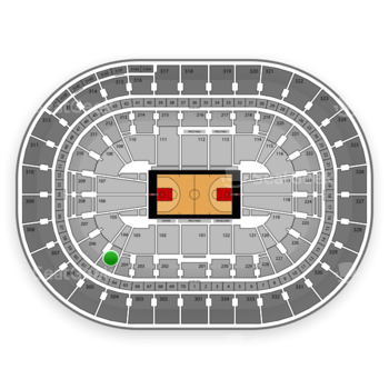 Portland Trail Blazers at Moda Center Section 205 View