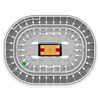 Portland Trail Blazers at Moda Center Section 206 View