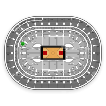 Portland Trail Blazers at Moda Center Section 210 View