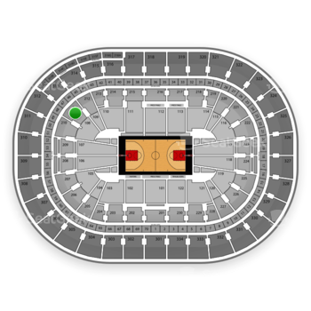 Portland Trail Blazers at Moda Center Section 211 View