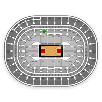 Portland Trail Blazers at Moda Center Section 215 View