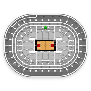 Portland Trail Blazers at Moda Center Section 216 View