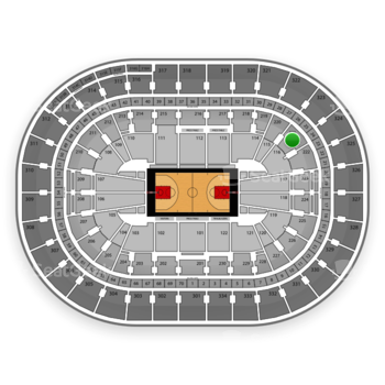 Portland Trail Blazers at Moda Center Section 221 View