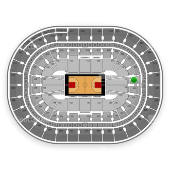 Portland Trail Blazers at Moda Center Section 223 View