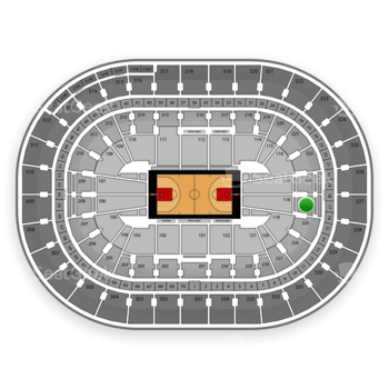 Portland Trail Blazers at Moda Center Section 224 View
