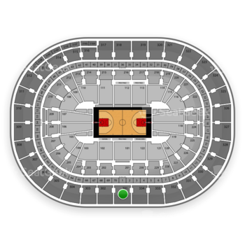 Portland Trail Blazers at Moda Center Section 301 View
