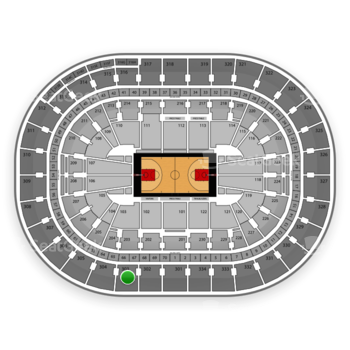 Portland Trail Blazers at Moda Center Section 303 View